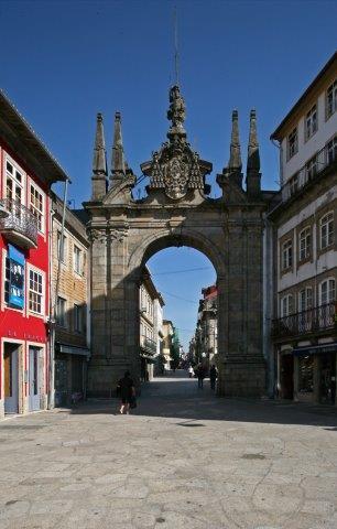 passeio pedestre na cidade de Braga